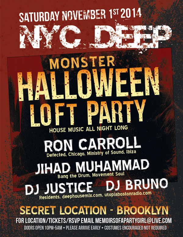 NYC Deep Monster Halloween Loft Party